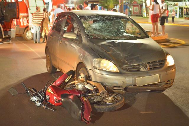 Motociclistas continuam sendo as maiores vítimas do trânsito douradense; em abril, foram 4 mortes de motociclistas na cidade. - Crédito: Foto: Marcos Ribeiro/Arquivo