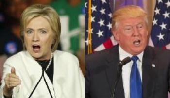 """Hillary Clinton: """"Não podemos deixar cair o legado de Barack Obama nas mãos de Donald Trump - Crédito: 1º"""