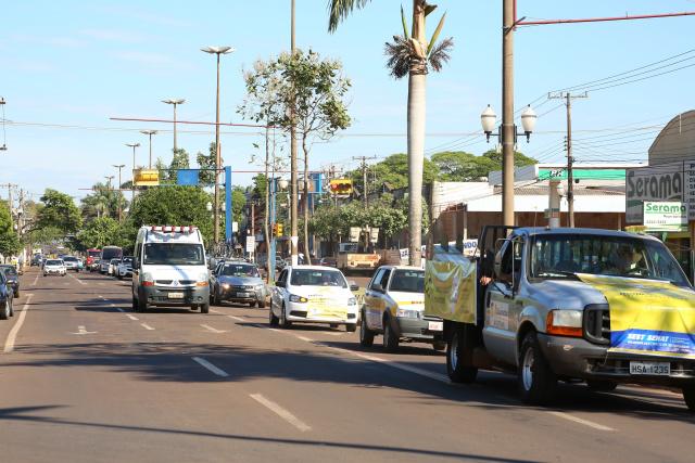 Carreata leva profissionais do trânsito à Marcelino Pires. - Crédito: Foto: A. Frota