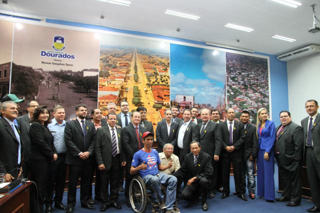 Dourados realiza a abertura oficial do Maio Amarelo. - Crédito: Foto: Divulgação
