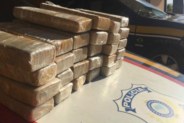 Cocaína apreendida pela PRF em Ponta Porã - Crédito: Foto: PRF/Divulgação