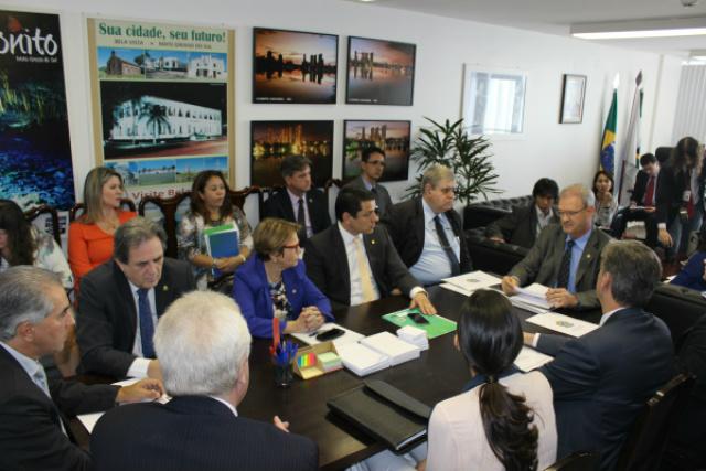 Deputado Geraldo Resende com o governo do Estado e bancada de MS: articulação e parceria de trabalho em favor de Dourados. - Crédito: Foto: Divulgação