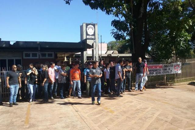 Paralisação de 24 horas aconteceu na quinta-feira em Dourados. - Crédito: Foto: Cido Costa/Dourados Agora