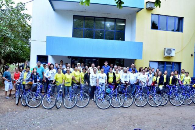 Foram adquiridos 54 bicicletas para os agentes comunitários de saúde de Fátima do Sul. - Crédito: Foto: Divulgação