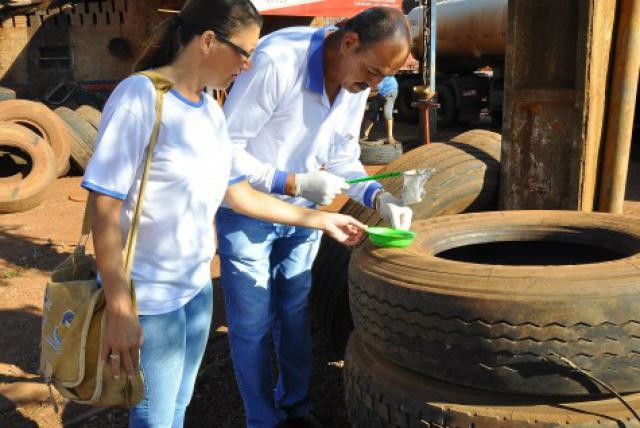 Combate a dengue continua em Dourados, mesmo com o tempo frio; meta é não dar trégua ao mosquito. - Crédito: Foto: Divulgação/A. Frota