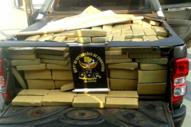 Apreensões do DOF puxaram o aumento registrado pela Sejusp; em 2015 foram 46,3 toneladas da droga e este ano 58,3 mil quilos. - Crédito: Foto: Divulgação