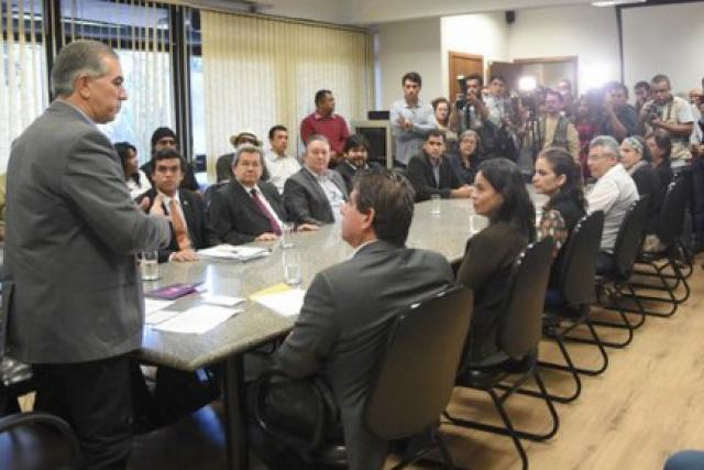 Na entrega de projeto de Lei pelo governador, estiveram presentes vários representantes da classe artística do Estado. - Crédito: Foto: Jessica Barbosa