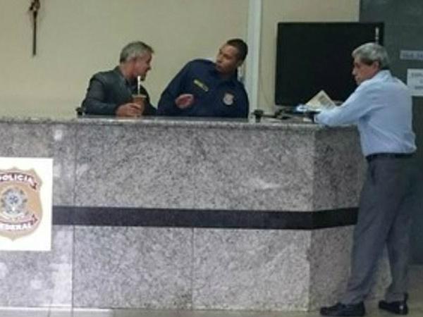 André na superintendência da PF em Campo Grande -