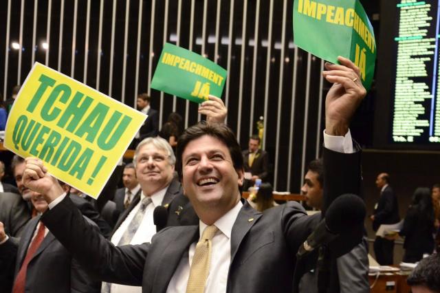 Deputado Luiz Henrique Mandetta era um dos mais exaltados com a degola da presidente Dilma. - Crédito: Foto: Senado