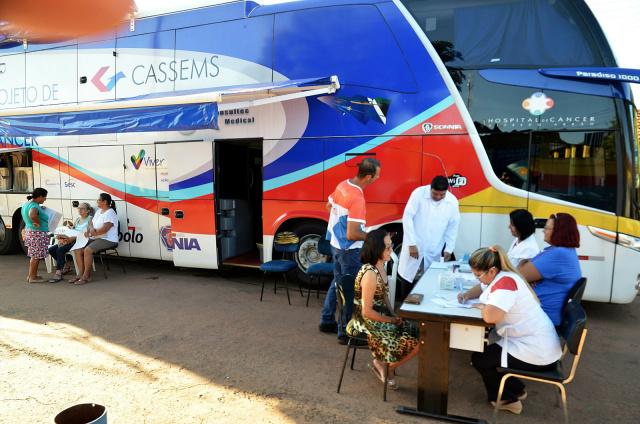 Ônibus estará estacionado, a partir das 7h30, na Unidade Básica de Saúde Padre José Ferrero, na Rua Nossa Senhora da Penha. - Crédito: Foto: Divulgação