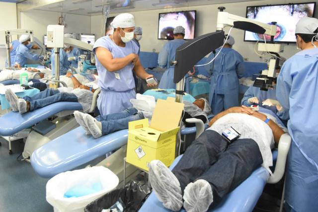 Primeiras cirurgias oftalmológicas da Caravana da Saúde, etapa da microrregião de Campo Grande. - Crédito: Foto: Gessica Barbosa
