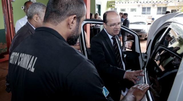 Secretário de Segurança vistoria Coordenadoria Geral de Perícias. - Crédito: Foto: Divulgação