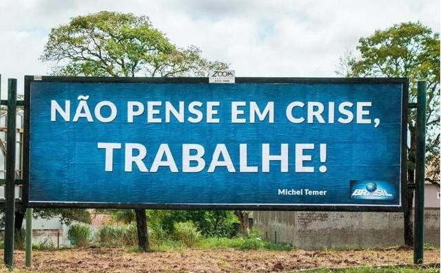 """""""Não pense em crise, trabalhe"""", foi a frase do presidente no 1º discurso. Foto: Campo Grande News -"""