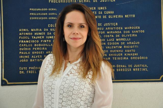 Cristiane Mourão Leal Santos é nova comandante do Gaeco. - Crédito: Foto: Divulgação