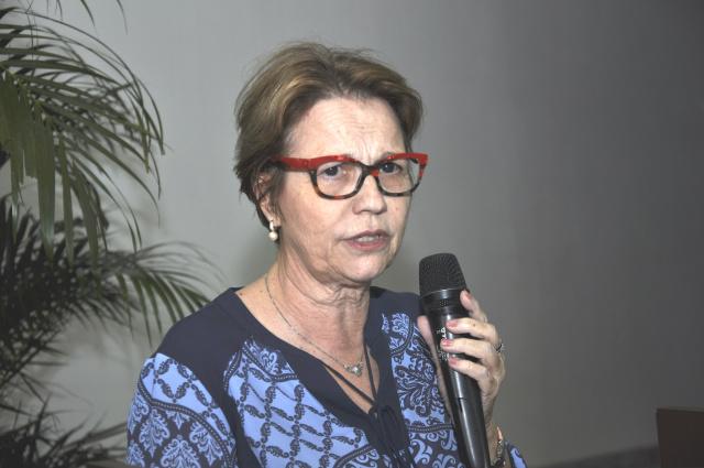 Deputada Tereza Cristina falou na 52ª abertura da  Expoagro sobre mobilização da bancada de MS. - Crédito: Foto: Hedio Fazan