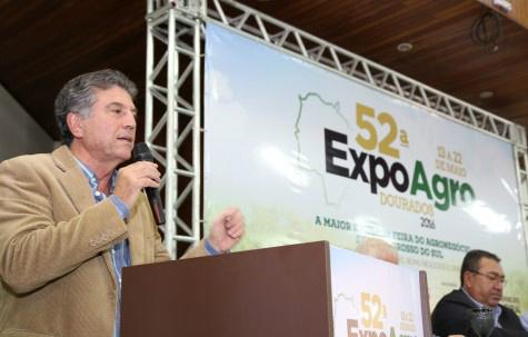 Na abertura da Exposhopping, Murilo destaca momentos marcantes passados por Dourados. - Crédito: Foto: Divulgação/A.Frota