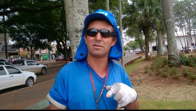 """""""O que importa é ter um emprego fixo e uma renda fixa"""" - Francisco Alves da Silva. - Crédito: Foto: Carlos Buckholz/O Progresso"""