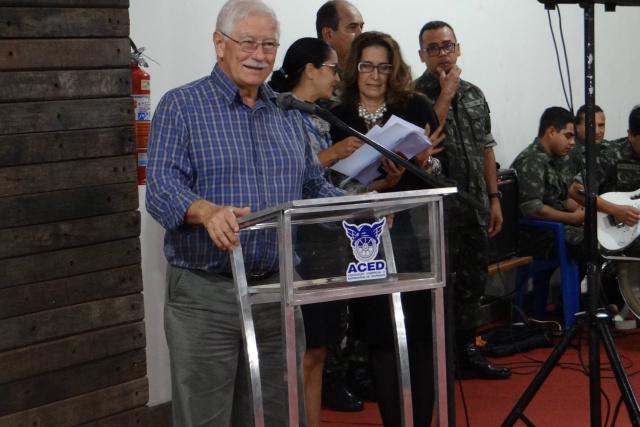 Presidente da Aced, Antônio Nogueira abre oficialmente o evento. - Crédito: Foto: Divulgação