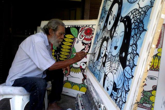 Ilton Silva é entalhador e escultor sul-matogrossense e artista autodidata. Ele se destaca pela riqueza por imprimir à sua obra um estilo inconfundível. - Crédito: Foto: Divulgação
