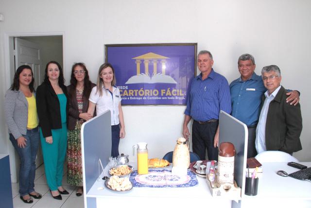 Prefeito em Exercício, Milton Sena visita primeira unidade da Rede Cartório Fácil em MS. - Crédito: Foto: Thiago Odeque