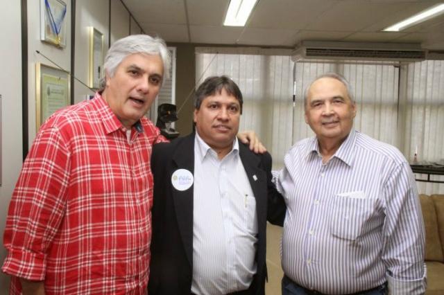 Ex-senador Delcídio Amaral, Dorival Betini e ex-deputado Londres Machado. - Crédito: Foto: Divulgação