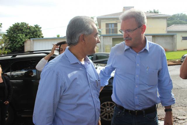 Em sua passagem por Dourados, Reinaldo diz que pré candidatura de Geraldo está solidificada no PSDB. - Crédito: Foto: Ricardo Minella