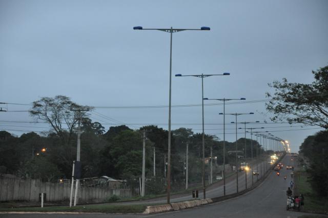 Rodovia MS-156, entre Dourados e Itaporã, terá sistema de iluminação recuperado. - Crédito: Foto: Hedio Fazan