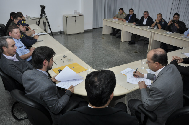 Reunião do Conselho Institucional de Segurança Pública pediu avanços ao governo do Estado. - Crédito: Hédio Fazan