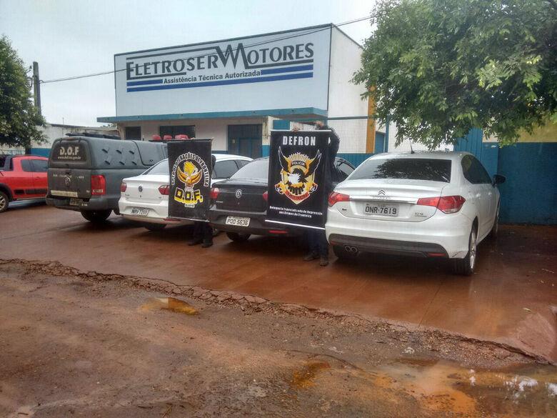 Veículos recuperados pelo DOF e Defron  -
