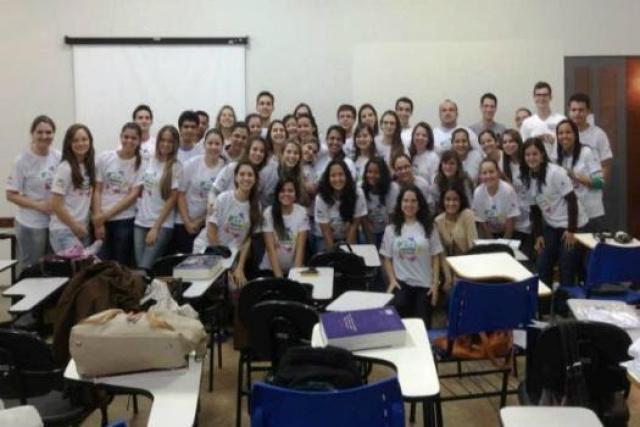 Grupo PET Saúde UFGD durante atividades anteriores. - Crédito: Foto: Divulgação