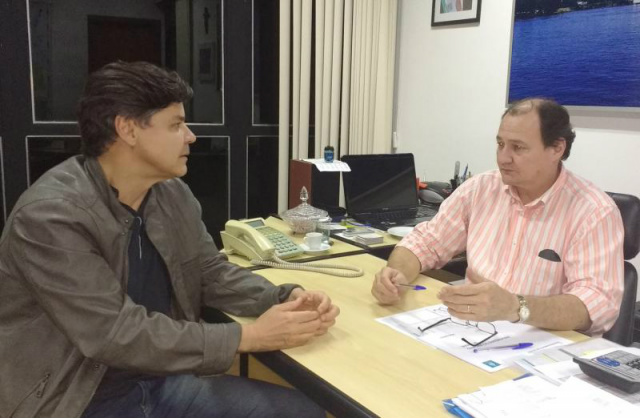 A confirmação do investimento e parceria foi dada pelo secretário estadual de Infraestrutura, Marcelo Miglioli, ao prefeito Paulo Duarte. - Crédito: Foto: Divulgação