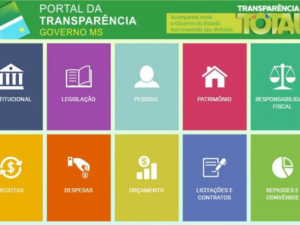 Portal de trnaparência do governo do estado de MS melhorou 650%, diz MPF - Crédito: Foto: Reprodução/TV Morena
