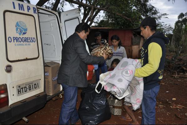O PREOGRESSO entrega agasalhos para comunidade indígena. Foto: Valéria Araújo -