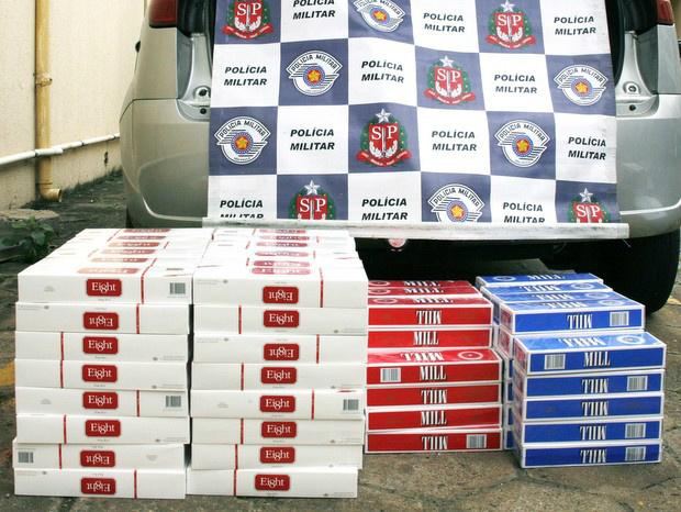 Cigarros ilegais. - Crédito: Foto: Divulgação