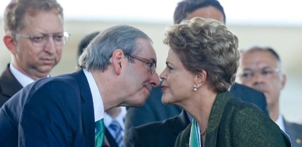 Dilma e Cunha. - Crédito: Foto: Divulgação