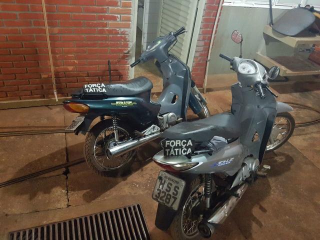 Motocicletas recuperadas pela Força Tática da PM em Dourados. - Crédito: Foto: Divulgação