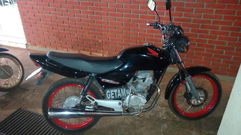 Moto recuperada pela polícia -