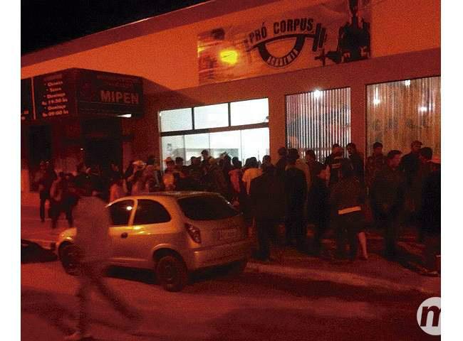 Crime ocorreu em frente a uma academia Foto: Divulgação -