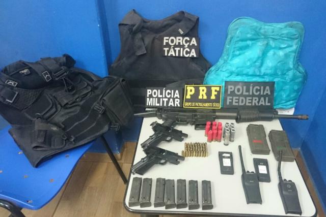 Ministério da Justiça autorizou presença da FNS em Caarapó; ontem, forças policiais recuperaram armamentos. - Crédito: Foto: Divulgação/PM