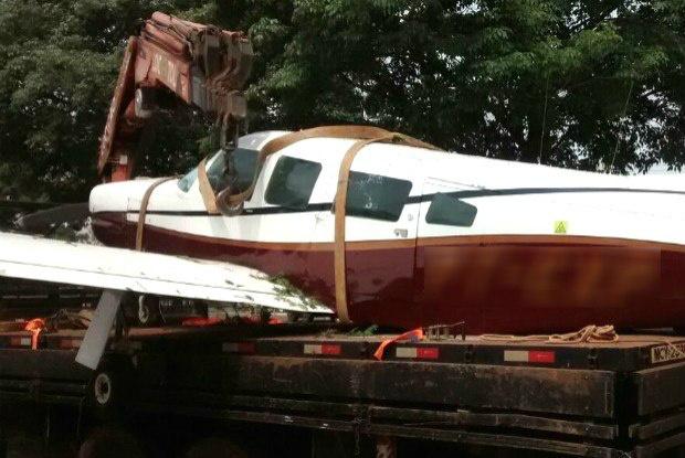 Uma das aeronaves apreendidas ao longo das investigações havia sido alvejado quando tentava retornar ao Paraguai com mercadorias contrabandeadas - reprodução TV Globo -