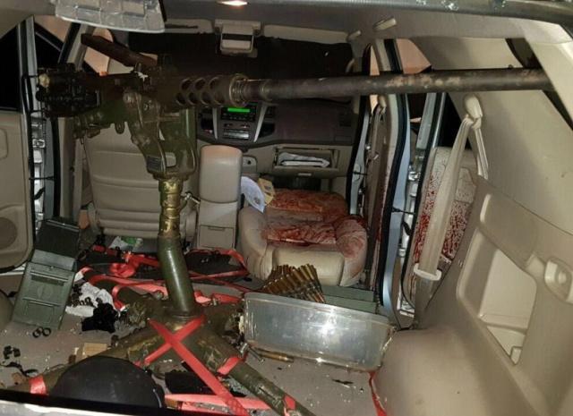 Metralhadora antiaérea foi encontrada em veículo utilizado para matar o empresário na noite de quarta. - Crédito: Foto: ABC Color