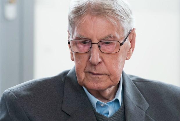 Reinhold Hanning foi acusado de 'colaboração' na morte de 170 mil judeus - Crédito: Foto: Bernd Thissen/Pool Photo/AP