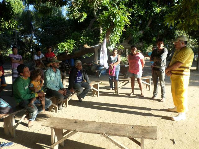 Participaram da capacitação oito membros da comunidade, organizados pelo líder Daniel de Moraes. - Crédito: Foto: Divulgação