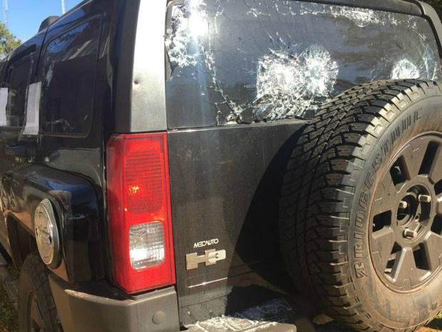 Traficante estava em veículo blindado - Crédito: Foto: Gabriela Pavão/ G1 MS
