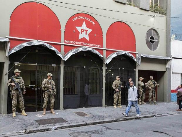 PF faz buscas na sede do PT em São Paulo -