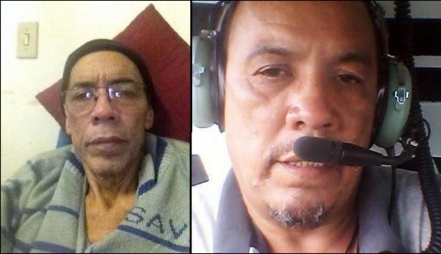 Diogo Neto, na direita, com 108 quilos e na esquerda, atualmente, com 50 quilos. -