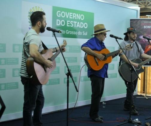 Música regional animou o lançamento do evento esta manhã - Crédito: Foto: Alcides Neto/Campo Grande News