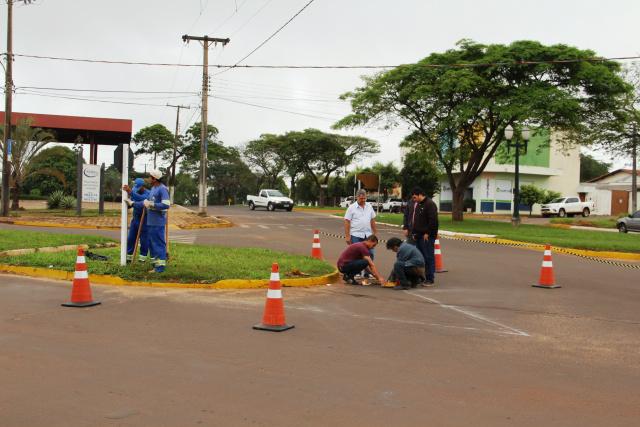 Rotatória foram implantadas recentemente e visam garantir mais segurança aos condutores. - Crédito: Foto: Assessoria