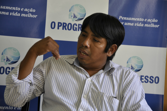 Entrevista com Leomar Mariano - liderança da tribo guarani, técnico agrícola. - Crédito: Foto: Hedio Fazan