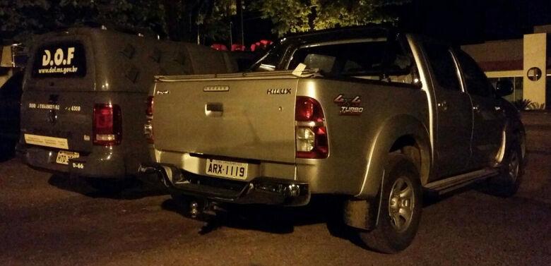 veículo foi recuperado pelos policiais do DOF -